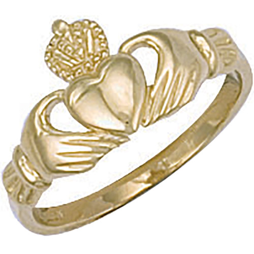 9ct gold small Claddagh ring 2g