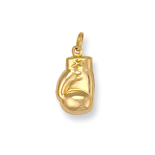 9ct Gold small boxing glove charm pendant 0.7g
