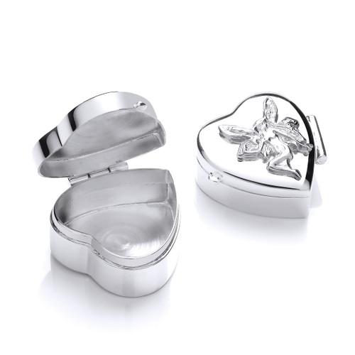 Sterling Silver Fairy trinket pill box 8g