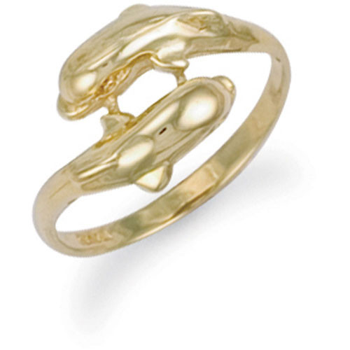 9ct Gold Double Dolphin Ring 3g
