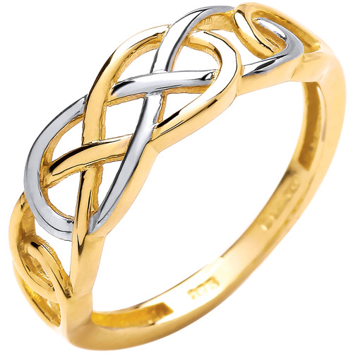 9ct Yellow and white Gold Ladies Celtic knot ring 1.8g