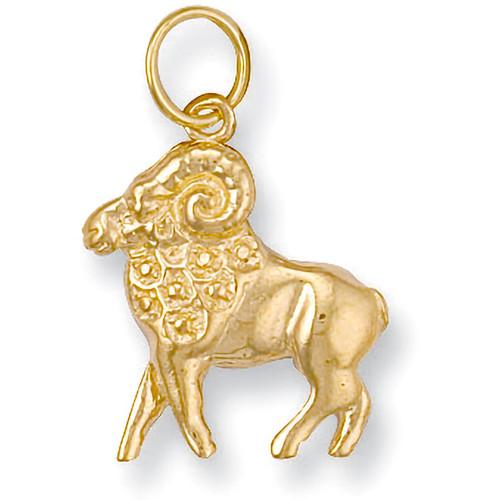 9ct Gold Aries the ram Starsign Zodiac Pendant 1.8g