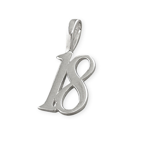 Sterling Silver 18th Birthay Charm Pendant
