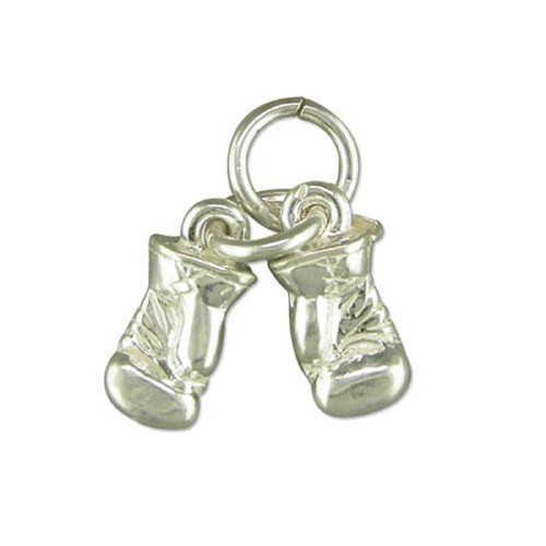Sterling silver small Pair of Boxing gloves charm