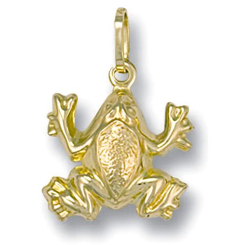 9ct Gold lightweight Frog charm Pendant 0.8g