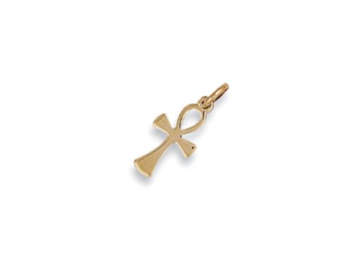 9ct Gold Small Ankh Cross Pendant 0.8g