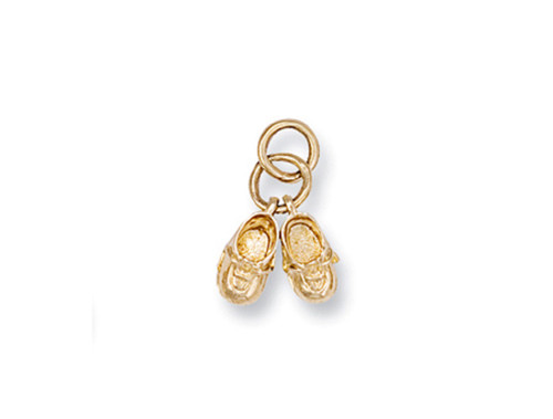 9ct Gold baby boots pendant 1.6g