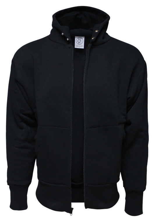 BLACK PREMIUM HEAVYWEIGHT HOODED JACKET