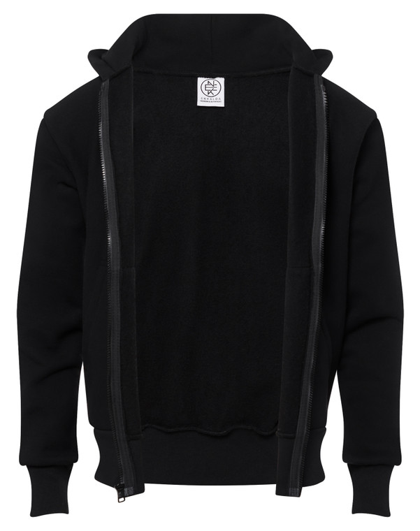 BLACK PREMIUM HEAVYWEIGHT ZIPPER HOODIE