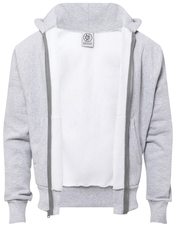 HEATHER GREY PREMIUM HEAVYWEIGHT ZIPPER HOODIE