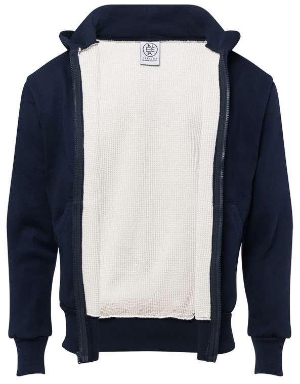 NAVY PREMIUM HEAVYWEIGHT THERMAL LINED ZIPPER HOODIE