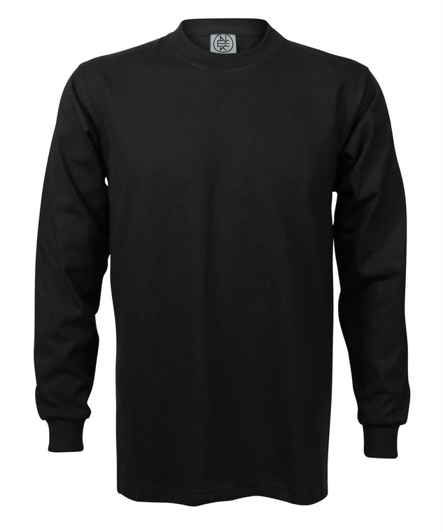 BLACK PREMIUM HEAVYWEIGHT LONG SLEEVE T-SHIRT