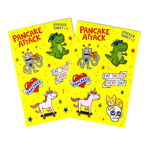 Pancake Attack Sticker Sheets