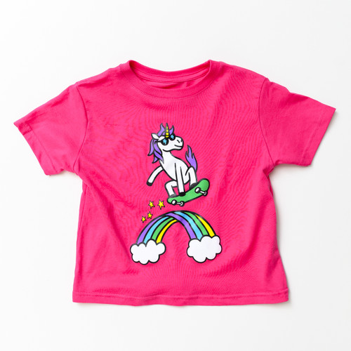 Skateboarding Unicorn! - Tee