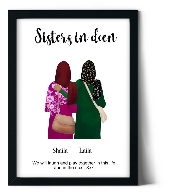 sisters illustrated frame