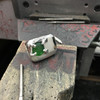 JCVT finished sea glass ring from workshop