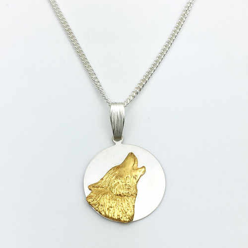Nick Tucker Silver and Gold Wolf