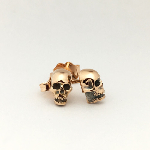 Lucky's Micro Skulls in 14k rose gold