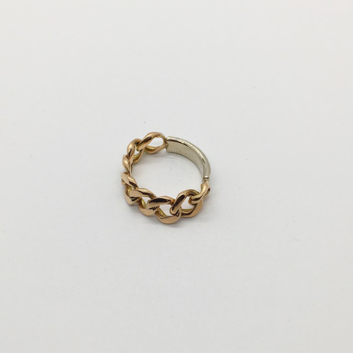JCVT rose gold cuban link ring