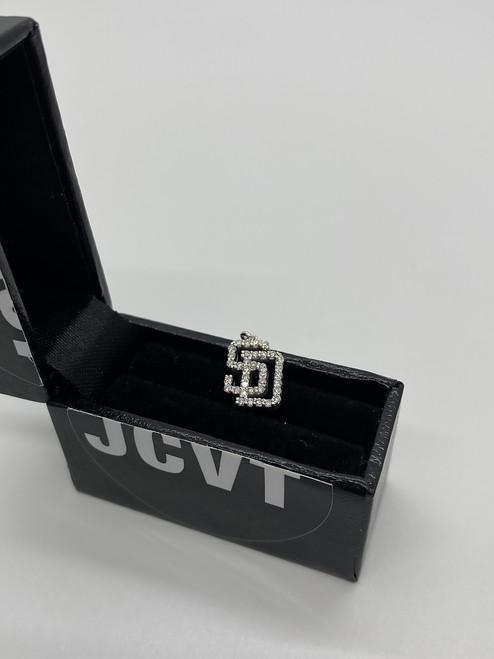 white gold diamond pendant San Diego JCVT