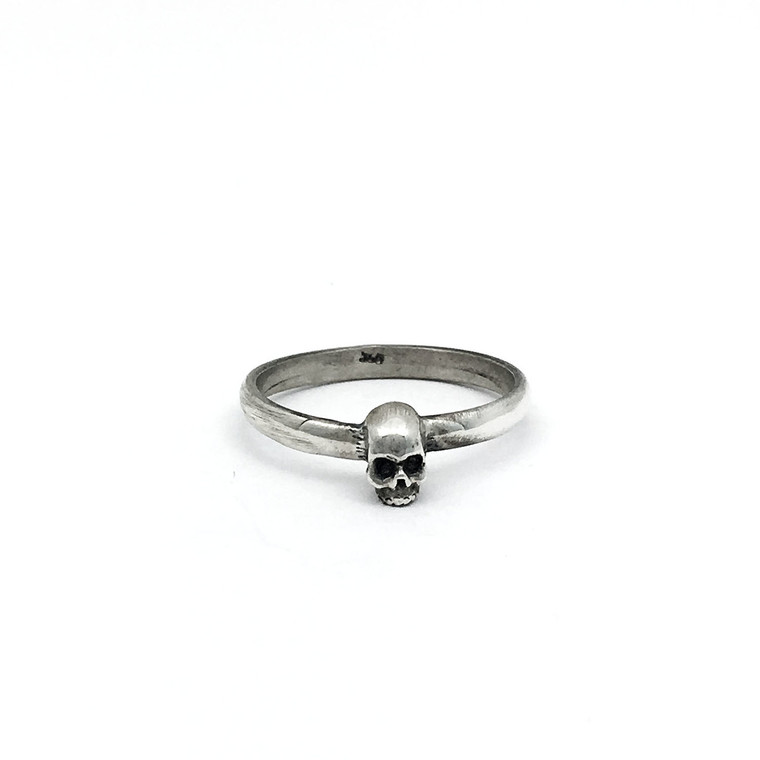 Lucky's Sterling Micro Skull ring