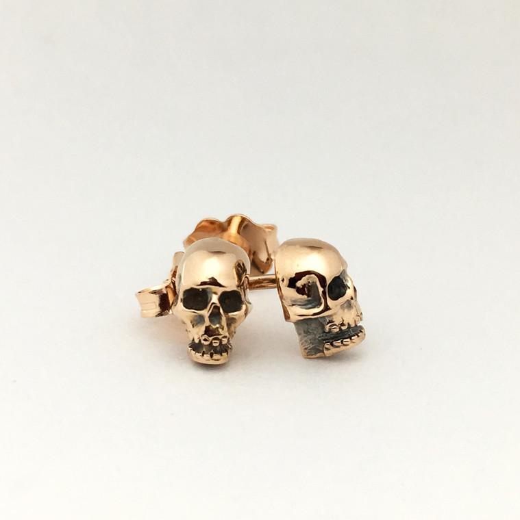 Lucky's Micro Skulls in 14k rose gold