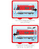 Titipo & Friends Mini Trains 3 pcs Set Toy Pull Back V.1 Titipo Genie Diesel