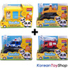 BabyBus Panda Monster 4 pcs Toy Car Set (Bus, Tow Truck, Police Car, Fire Truck)