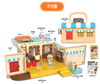 Welcome to Bread Barbershop House Toy Set w/ Figures Sound Effect Korean Audio