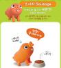 Bread Barbershop Figure 4 pcs Set Toy BREAD WILK CHOCO SAUSAGE Korean Animation Authentic Toytron