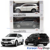 Kia Motors SORENTO MQ4 Diecast Mini Car Toy 1:38 Miniature Model WHITE & BLACK