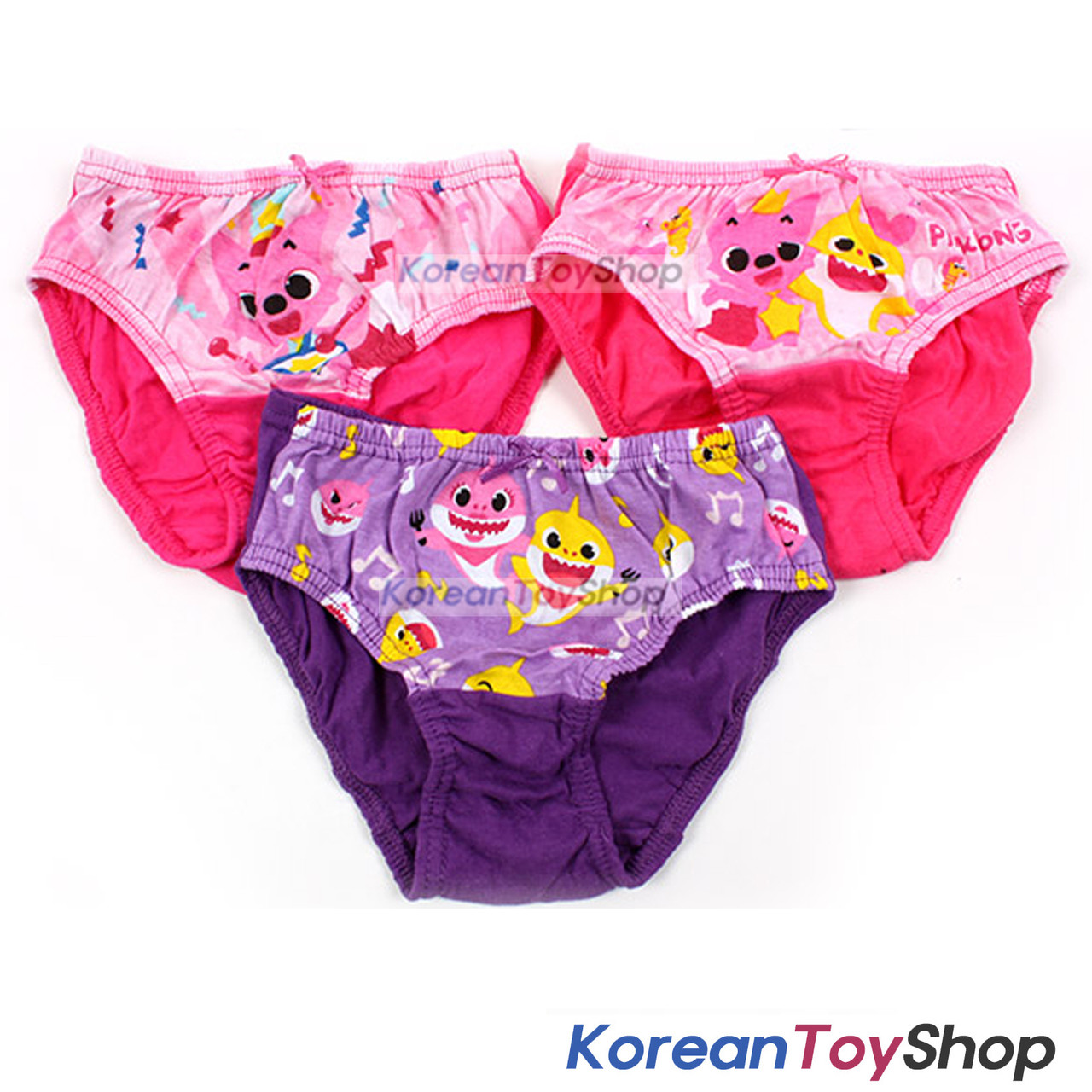 d429cdbbd Pinkfong Toddler Girl 3-Pack Briefs Panties Underwear 12-24M 100% Cotton ...