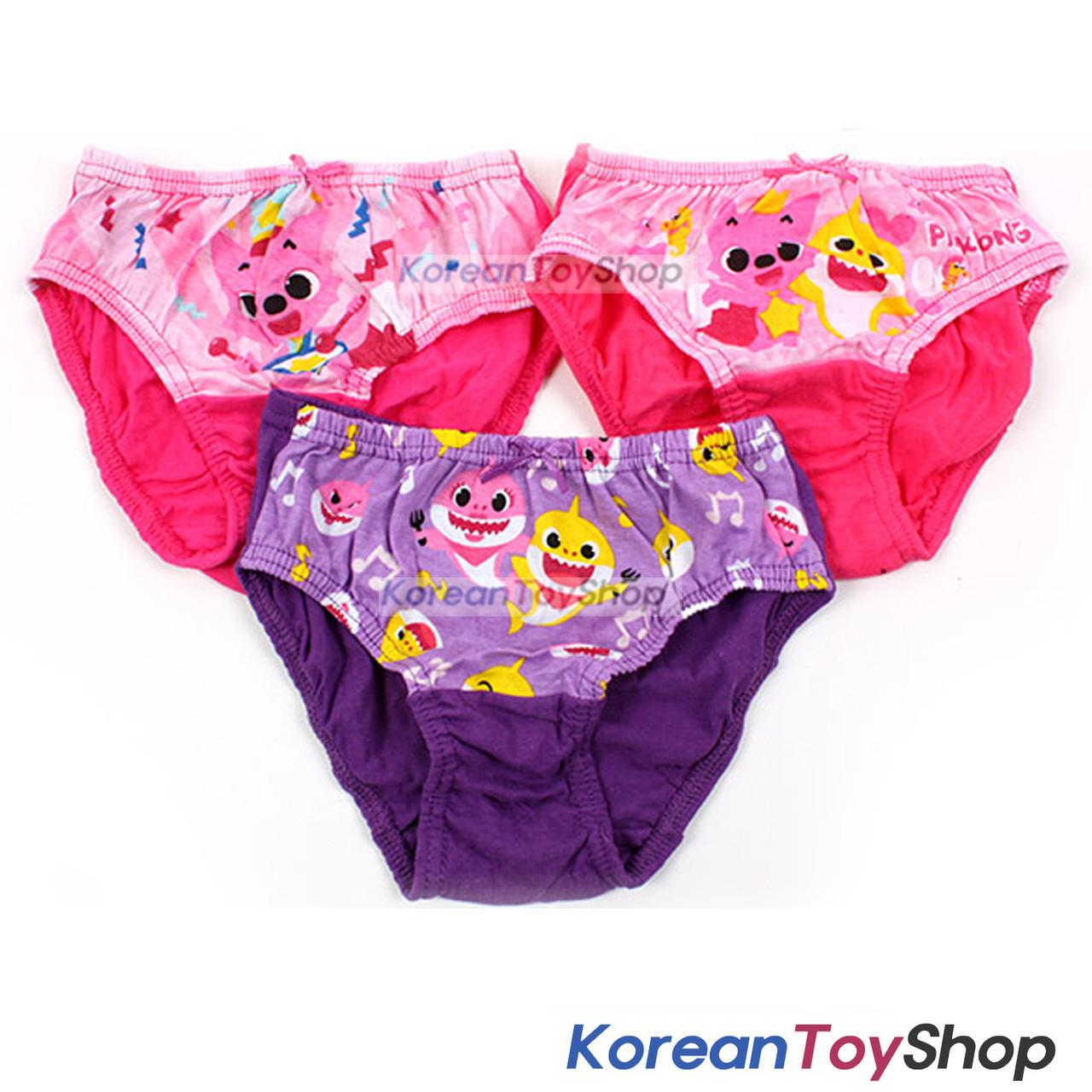 772e3be1008 Pinkfong Toddler Girl 3-Pack Briefs Panties Underwear 2T 100% Cotton  Original ...
