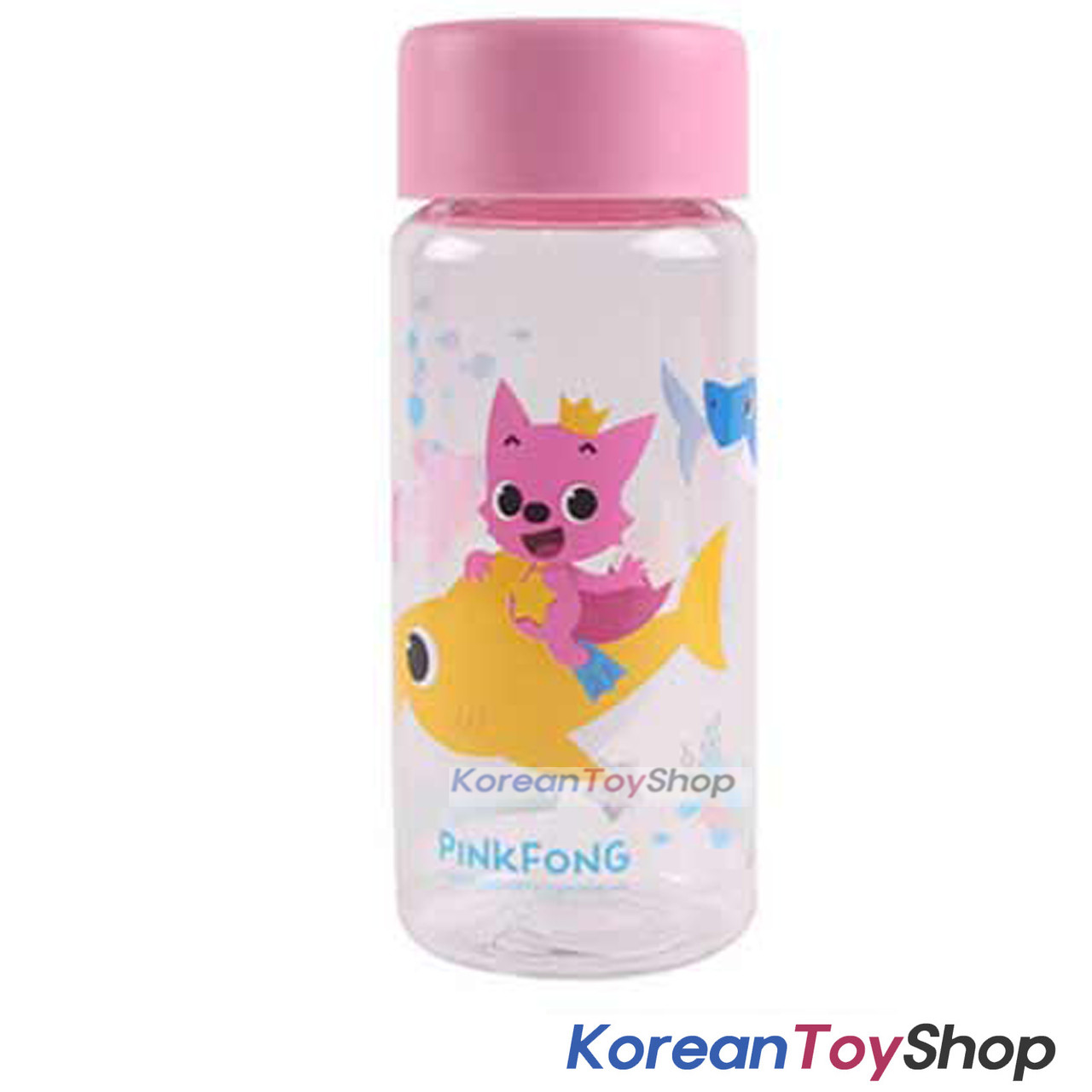 Pinkfong Cute Plastic Eco Water Bottle 380ml Made In Korea Bpa Free