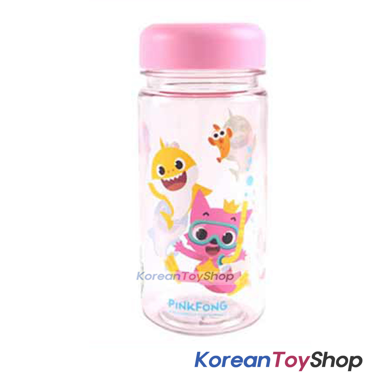 Pinkfong Cute Plastic Eco Water Bottle 350ml Made In Korea Bpa Free