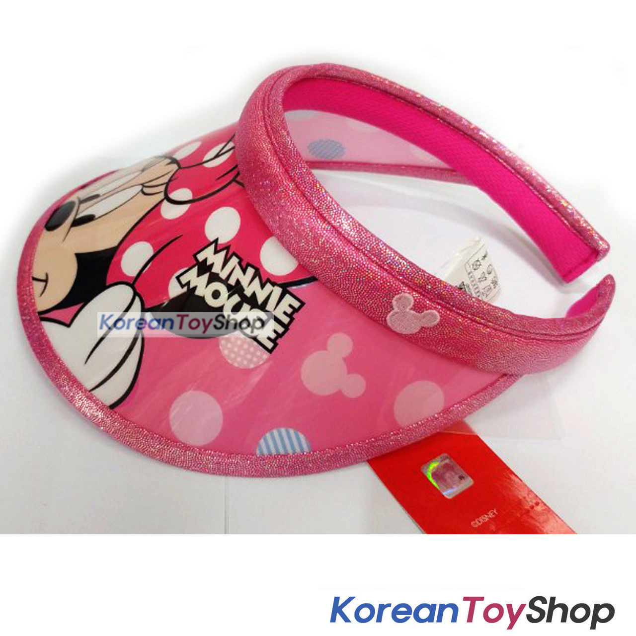 a8981f4fd0e Disney Minnie Mouse Visor Hat Sun Cap Kids Girl Pink Designed Korea Original