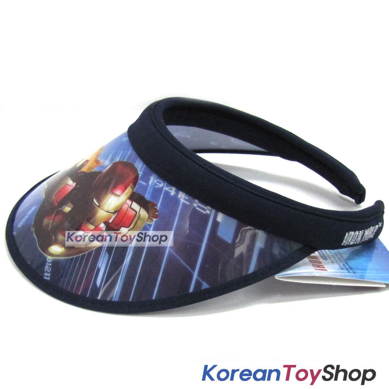 IRON MAN Visor Hat Sun Cap Kids Boy Designed by Korea Dark Blue ... a4700f36a31f