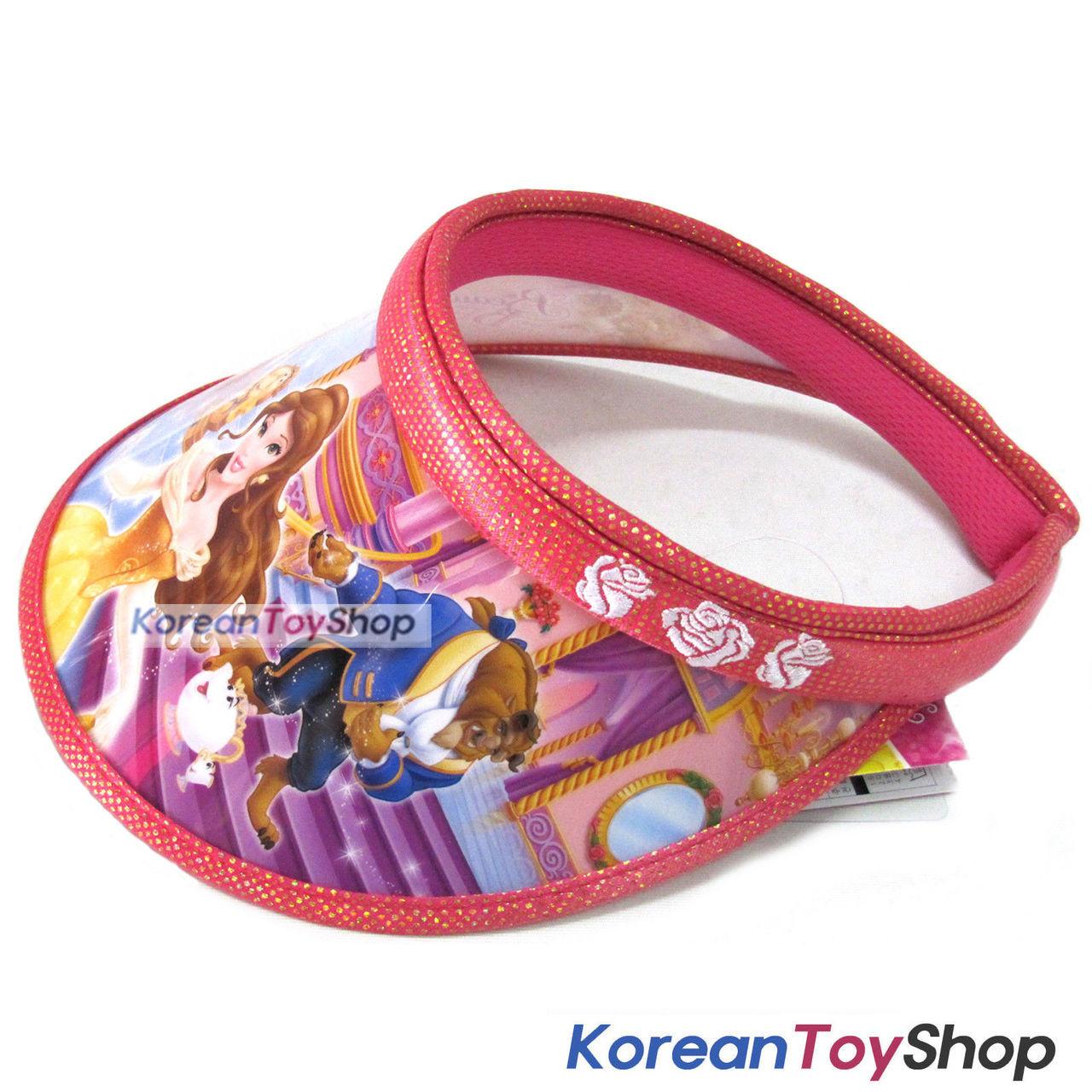 53df98707ef48 Disney Beauty and the Beast Visor Hat Sun Cap Kids Girl ROSE N.03 ...
