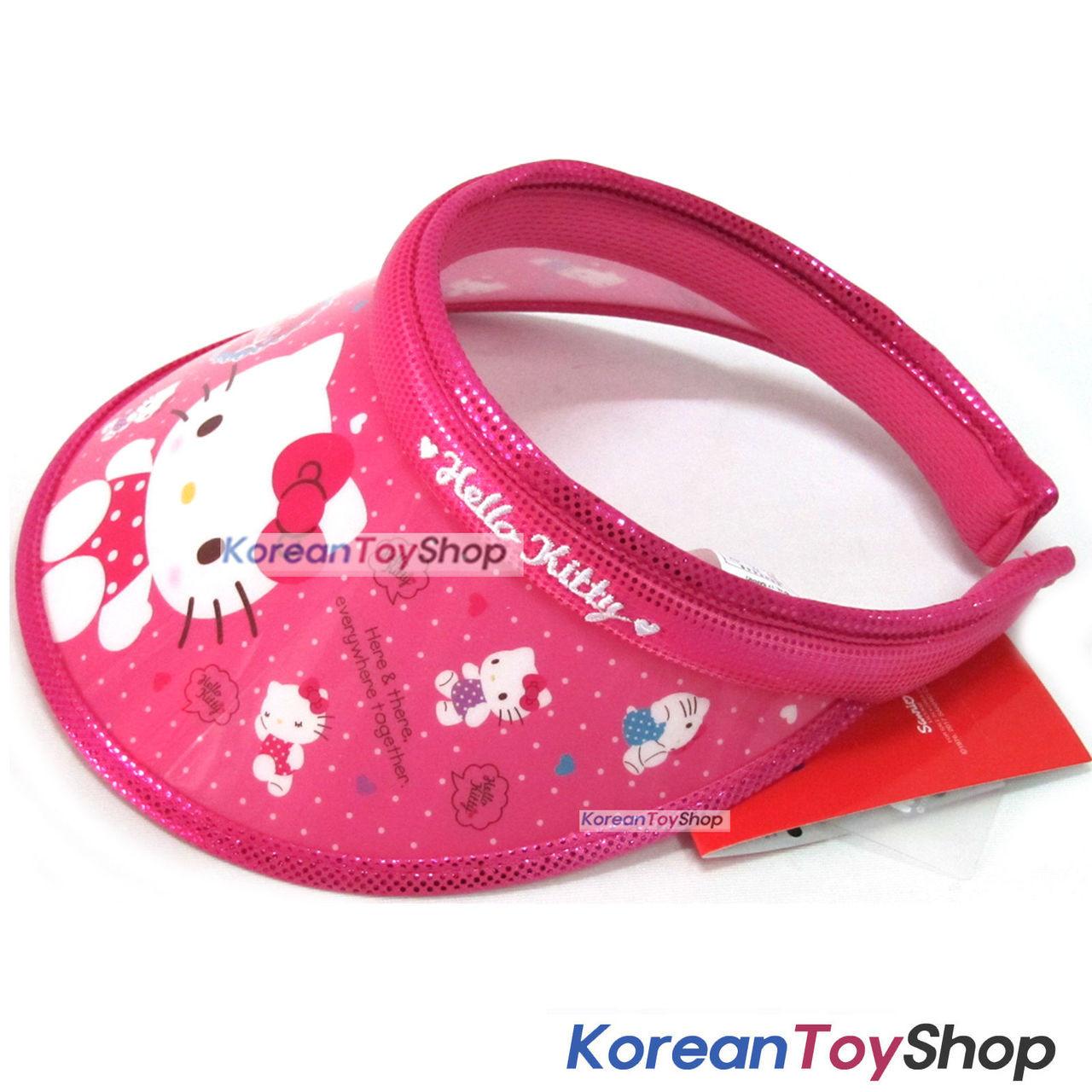 fe82863239384 ... Hello Kitty Visor Hat Sun Cap Kids Girl COLOR DRESS Model Designed by  Korea