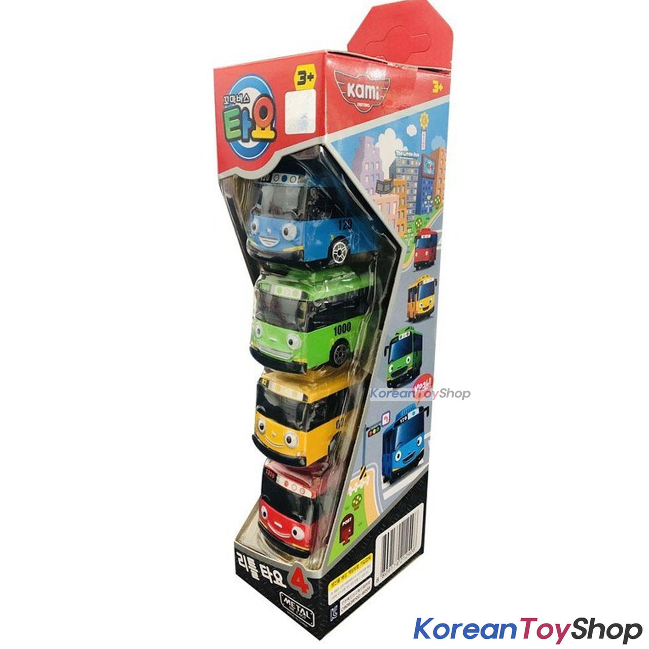 Tayo Little Bus Friends Mini Metal Toy Car 4 pcs Set TAYO ROGI GANI RANI