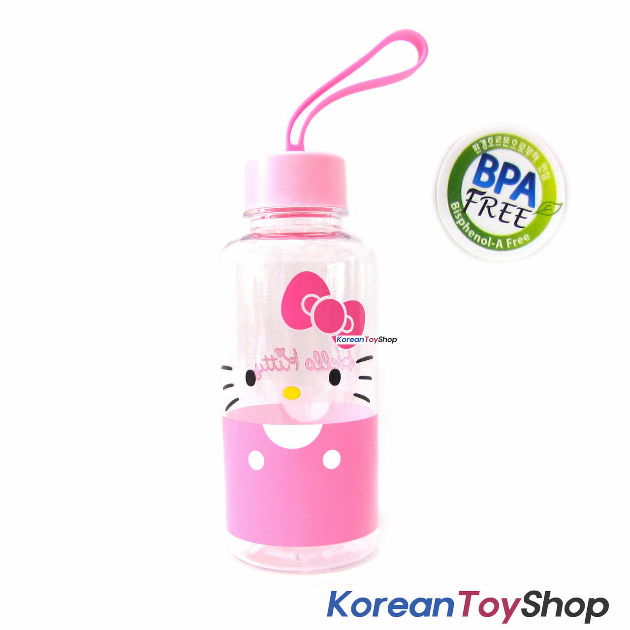 Hello Kitty Tritan Water Bottle W Silicone Handle Bpa Free Made