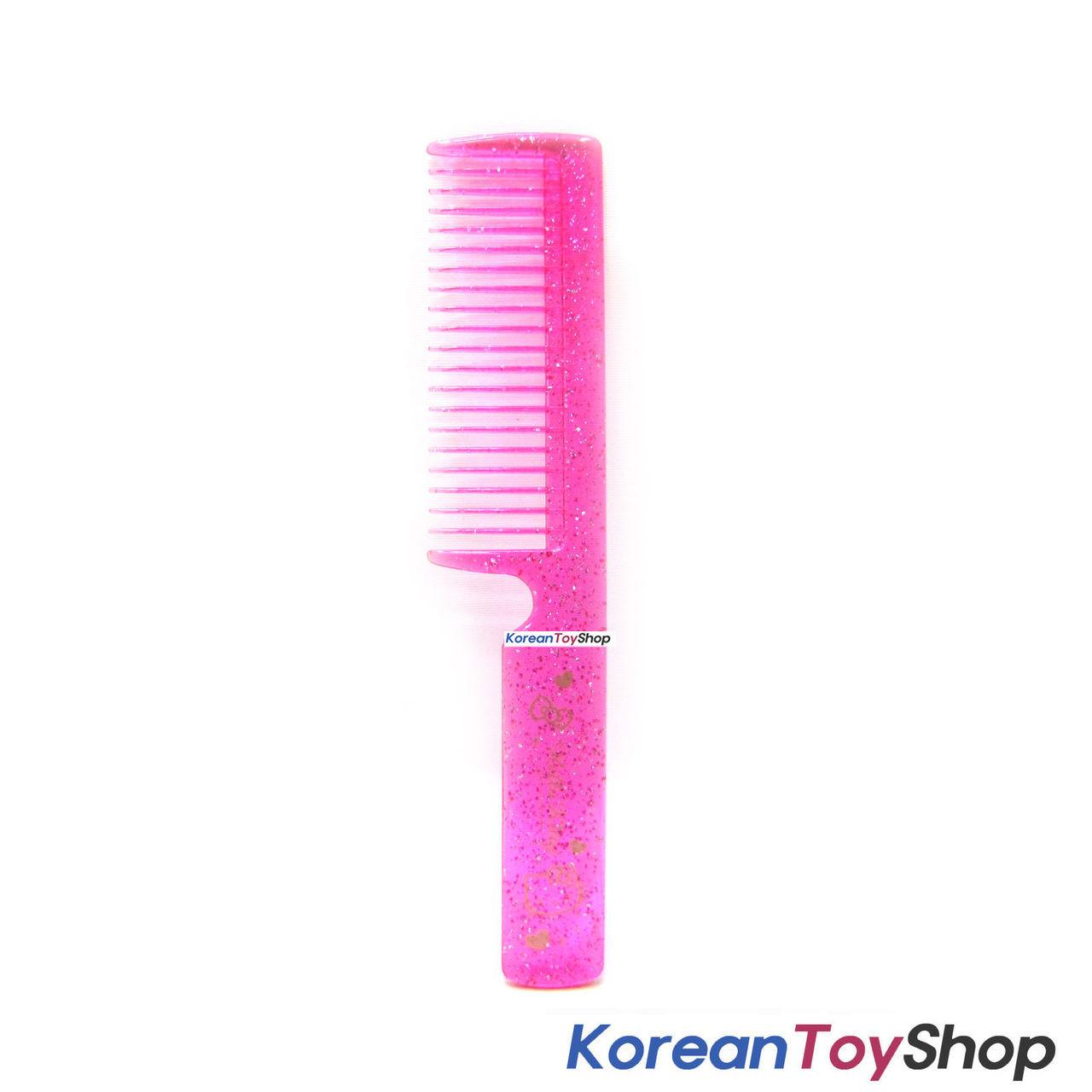 d17cbd958 Hello Kitty Hair Comb Pink Color w/ Glitter Decoration / Made in Korea -  KoreanToyShop