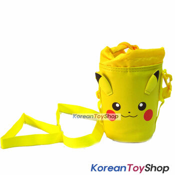 Pokemon Pikachu Cut Bottle Bag Cover w/ Neck or Shoulder String