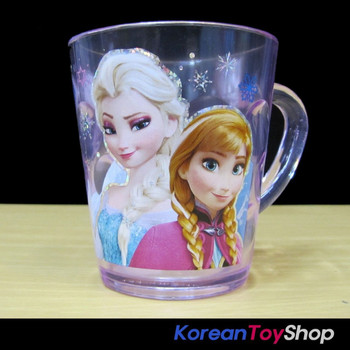 Disney Frozen Character Clear Plastic Cup with Handle 7.8oz Made in Korea