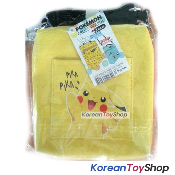 Pokemon Pikachu Cross Pouch Bag Shoulder String Stationery Cosmetic Storage Case
