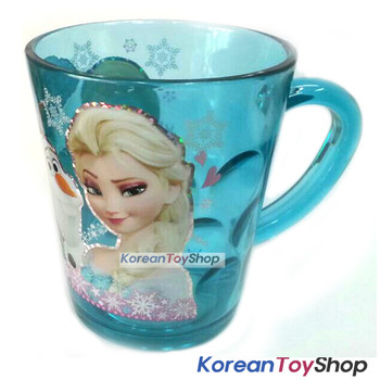 Disney Frozen Character Clear Plastic Cup with Handle 7.8oz GREEN Made in Korea