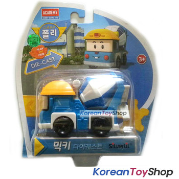 Robocar Poli MICKEY Diecast Metal Figure Toy Car Mickey Mixing Truck Academy