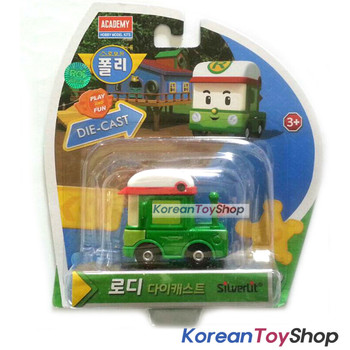 Robocar Poli RODY Diecast Metal Figure Toy Car Rodi Green Car Academy Genuine