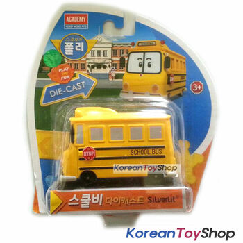 Robocar Poli School B Bi Diecast Metal Figure Toy Car School Bus Academy Genuine