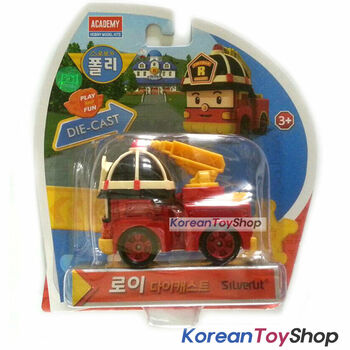 Robocar Poli ROY Diecast Metal Figure Toy Car Fire Truck Academy Genuine